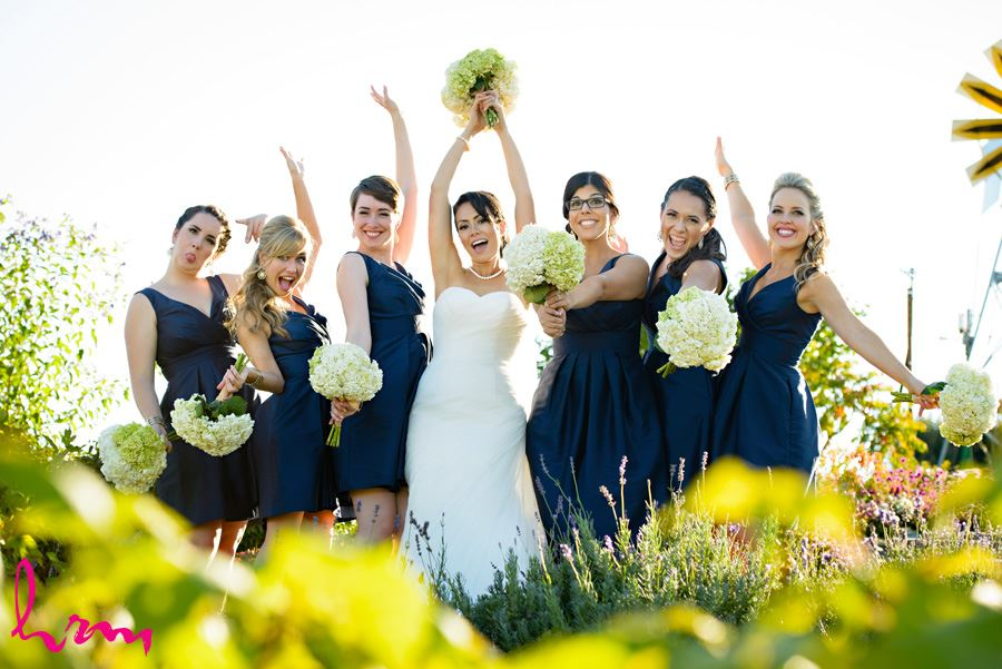 Bridesmaids flowers Heeman Greenhouses London ON Wedding HRM Photography