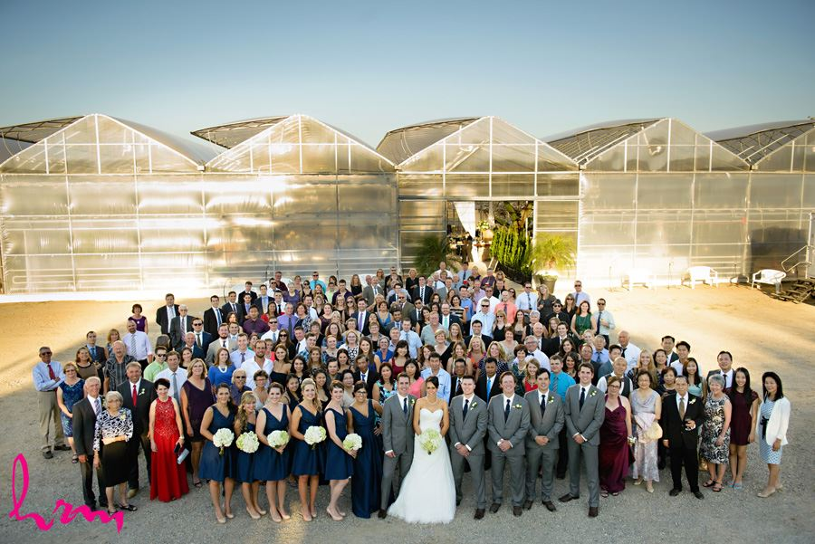 Guests at Heeman Greenhouses London ON Wedding Photography