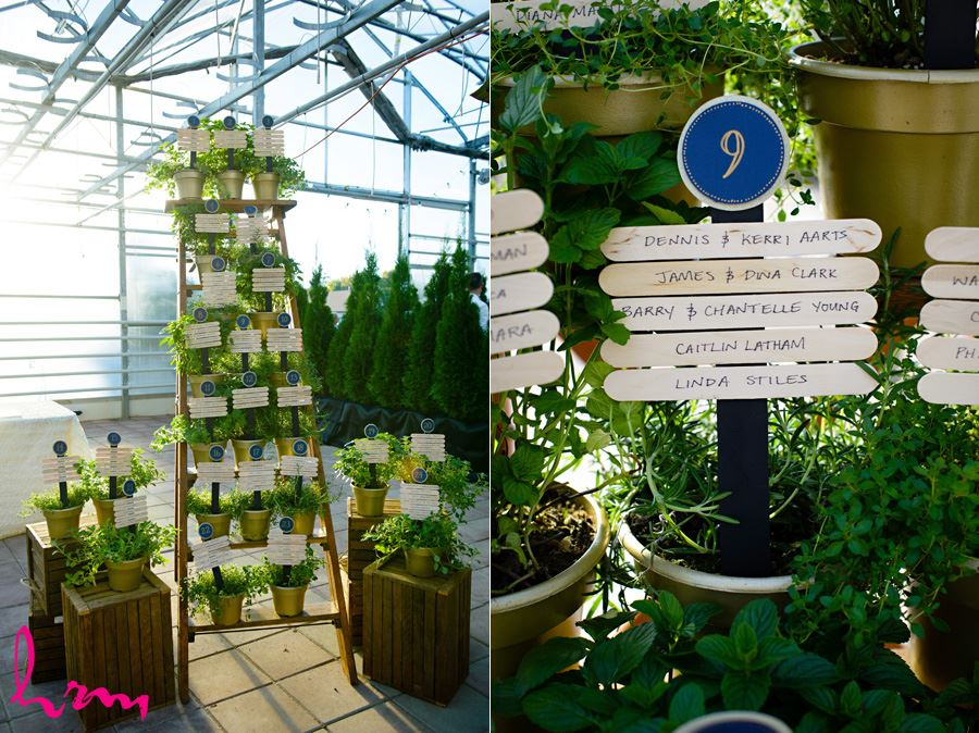 Name signs at Heeman Greenhouses London ON Wedding Photography