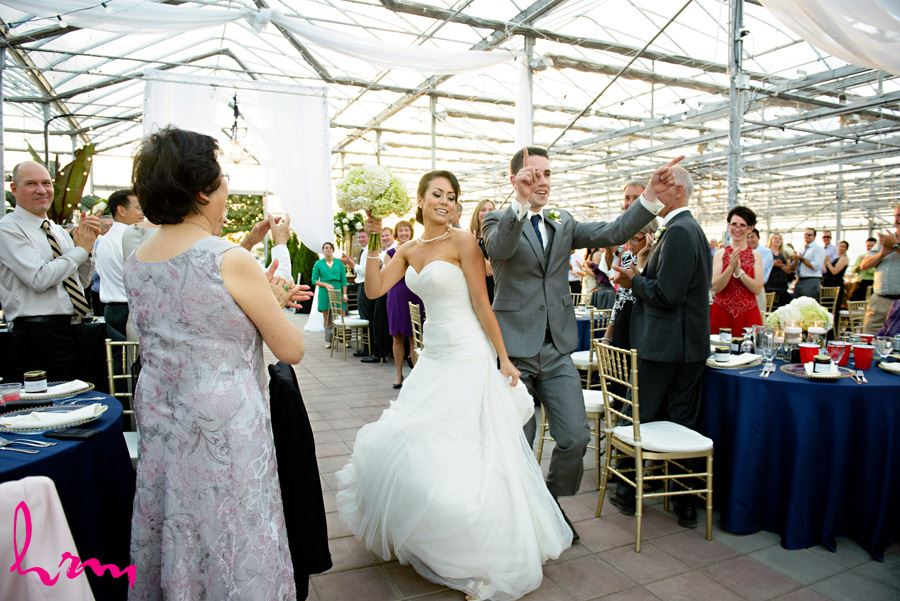 Geneviève and Will dance into reception Heeman Greenhouses London ON Wedding HRM Photography