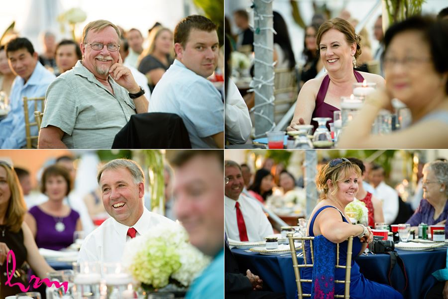 Guests enjoying speeches at Heeman Greenhouses London ON Wedding HRM Photography