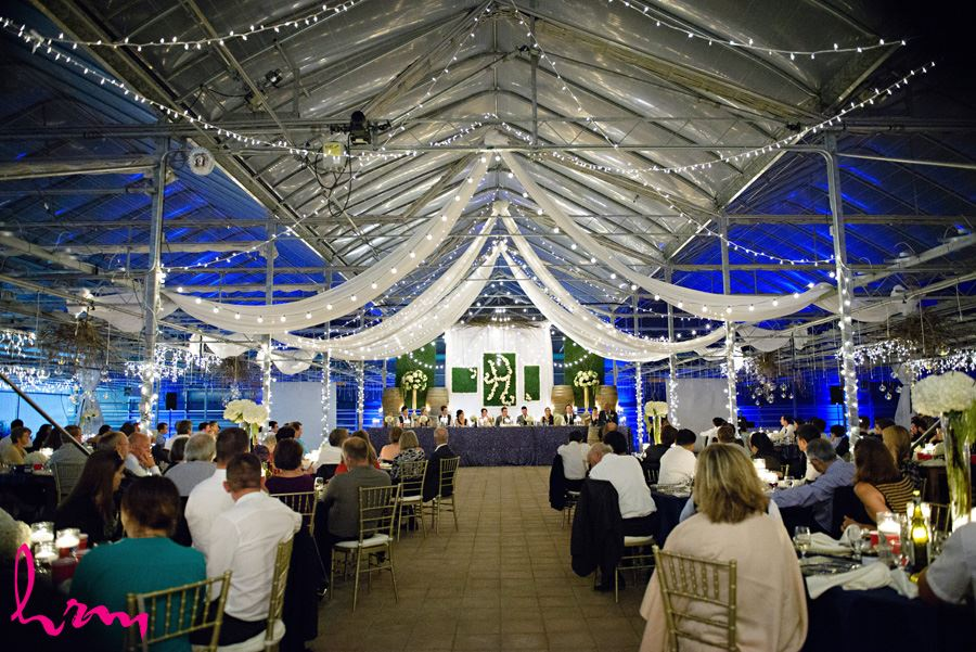 Guests during speeches at Heeman Greenhouses London ON Wedding HRM Photography