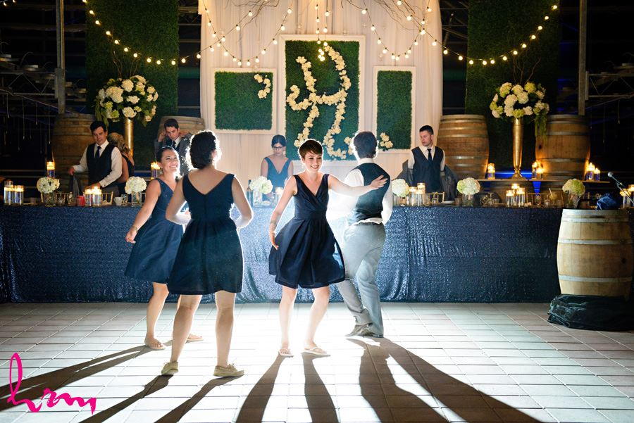 Starting the dance Heeman Greenhouses London ON Wedding HRM Photography