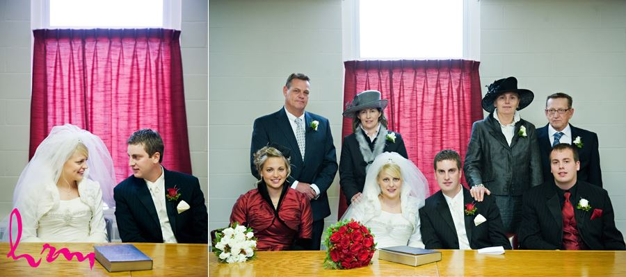 family together after wedding ceremony