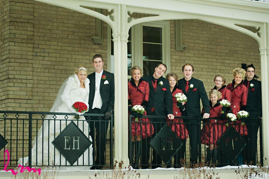 elmhurst inn winter wedding party