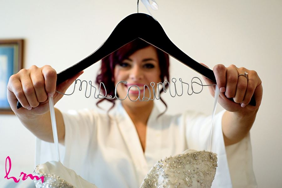 personalized mrs wedding dress hanger