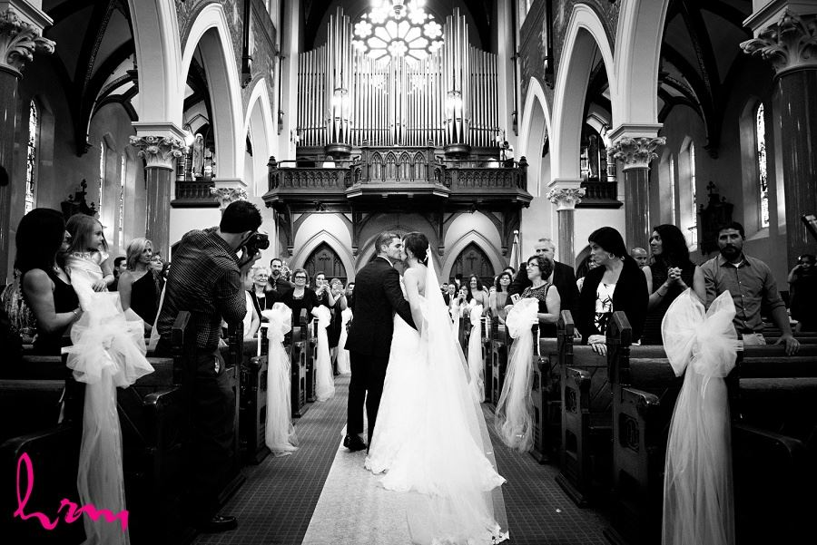 downtown london ontario wedding ceremony at st peters basilica cathedral