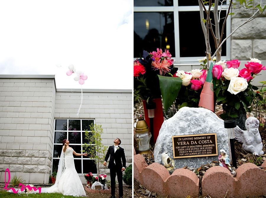 wedding day balloon release to remember loved one