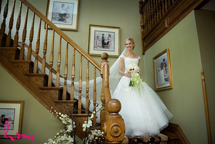 Sabrina walking down stairs London ON Wedding Photography