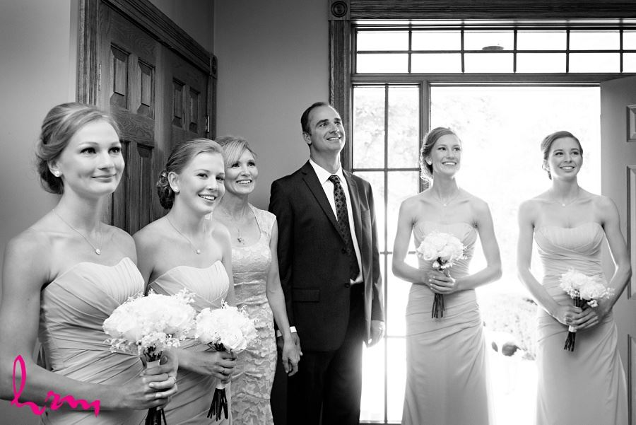 Bridesmaids in black and white London ON Wedding Photography