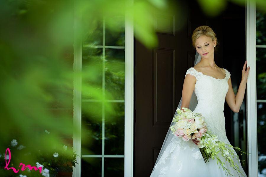 Sabrina in doorway London ON Wedding Photography
