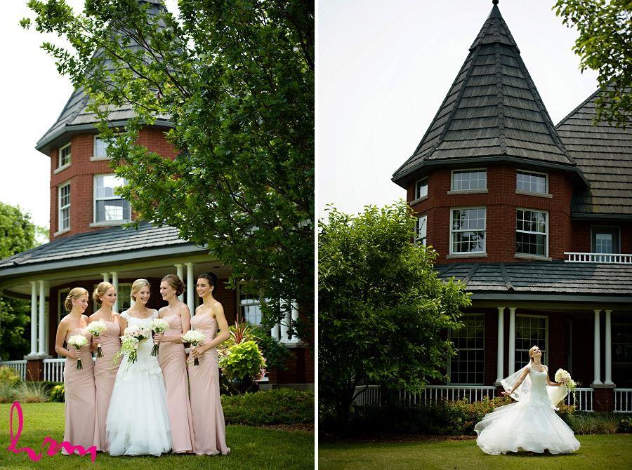 Bridesmaids outside London ON Wedding Photography