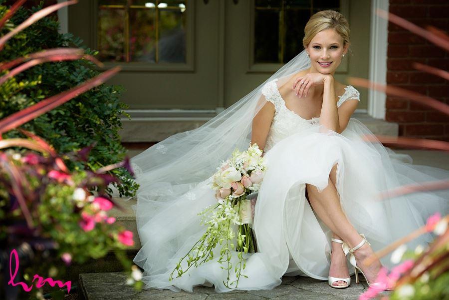Sabrina sitting outside London ON Wedding Photography