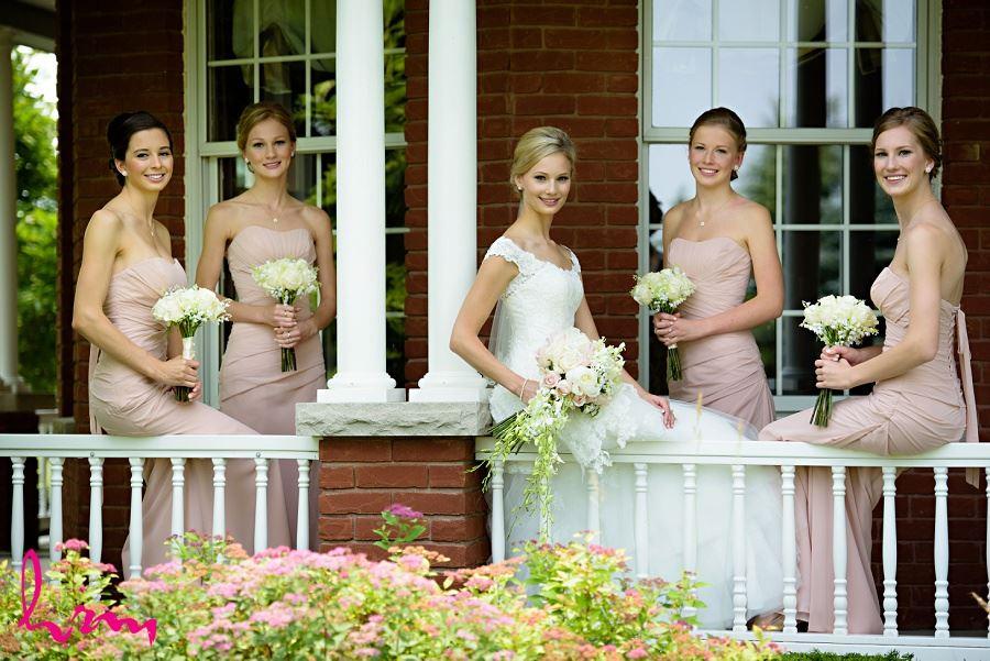 Sarah and bridesmaids outside London ON Wedding Photography