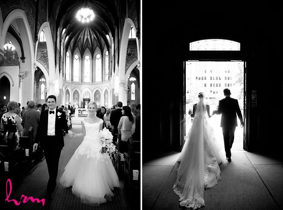Sabrina + Winston leaving St Peter's Basilica London ON Wedding Photography
