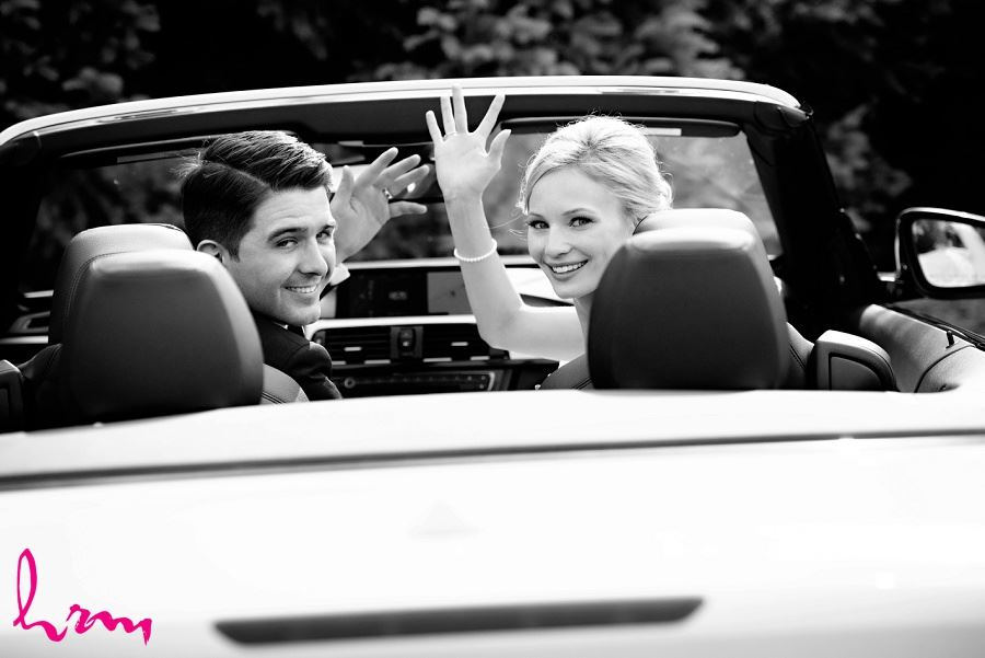 Sabrina + Winston in car after ceremony London ON Wedding Photography