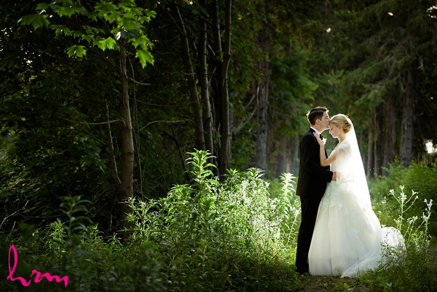 Sabrina + Winston in forest Bellamere Winery Event Centre London ON Wedding HRM Photography