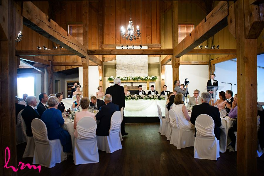Sabrina + Winston head table Bellamere Winery Event Centre London ON Wedding Photography