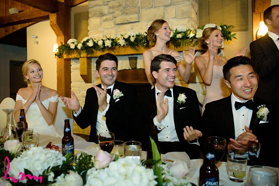 Applauding the performance at Bellamere Winery Event Centre London ON Wedding Photography