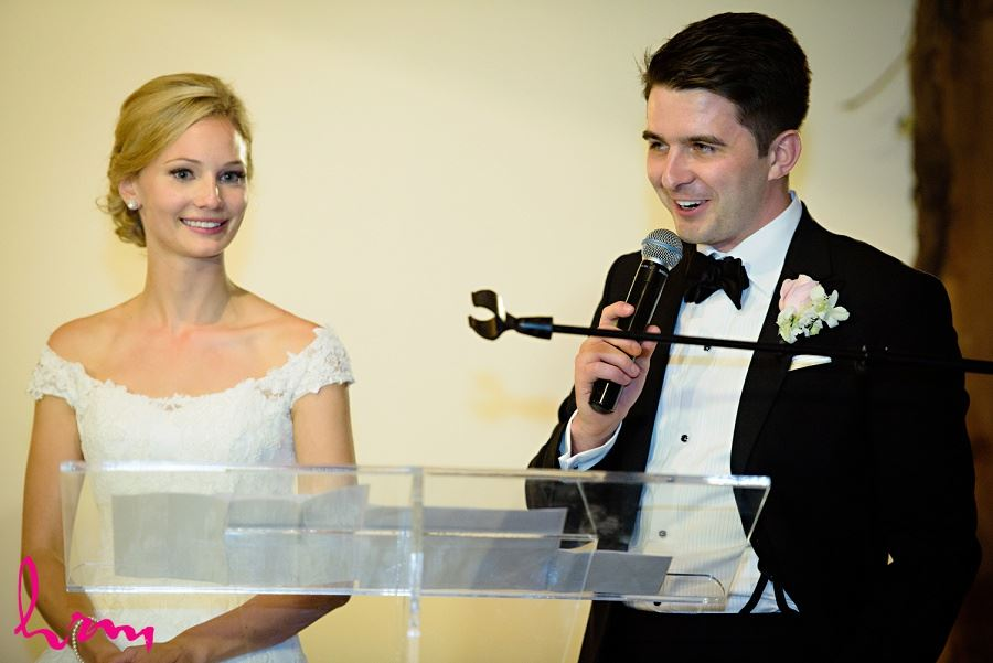 Sabrina and Winston speech at Bellamere Winery Event Centre London ON Wedding Photography