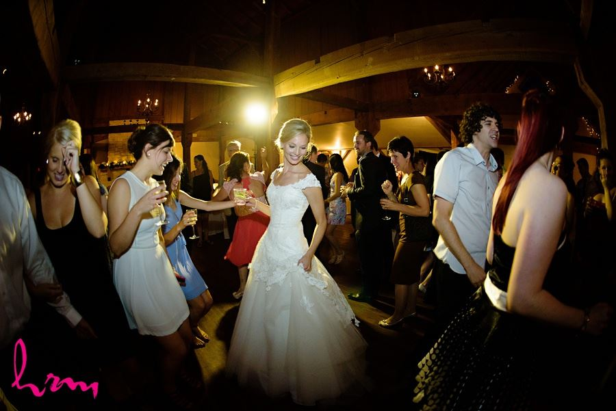 Dancing with guests Bellamere Winery Event Centre London ON Wedding Photography