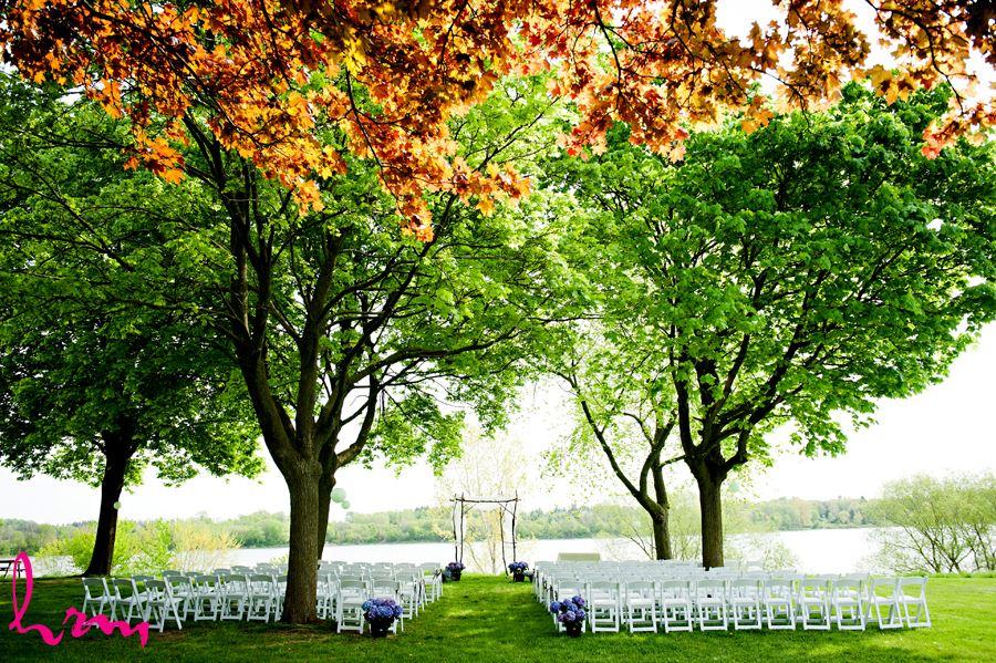 Outdoor wedding ceremony at Watson Porter Pavillion