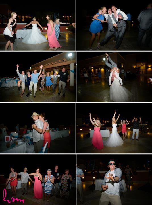 Destination wedding Mexico reception dancing images