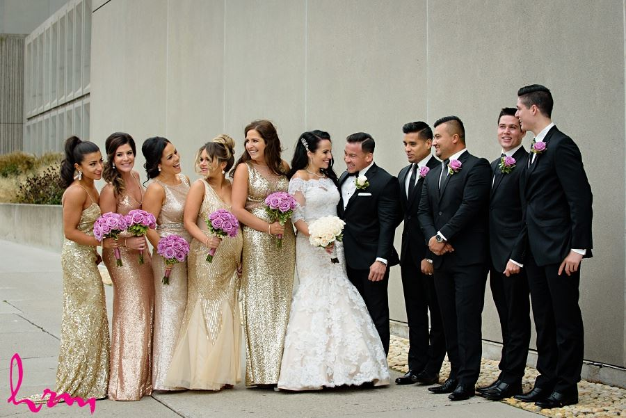 Bridal party outside of Museum London London ON Wedding HRM Photography
