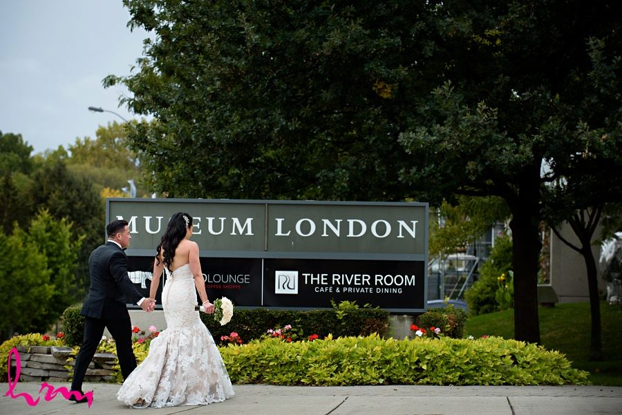 Lauren and Jose entering Museum London London ON Wedding Photography