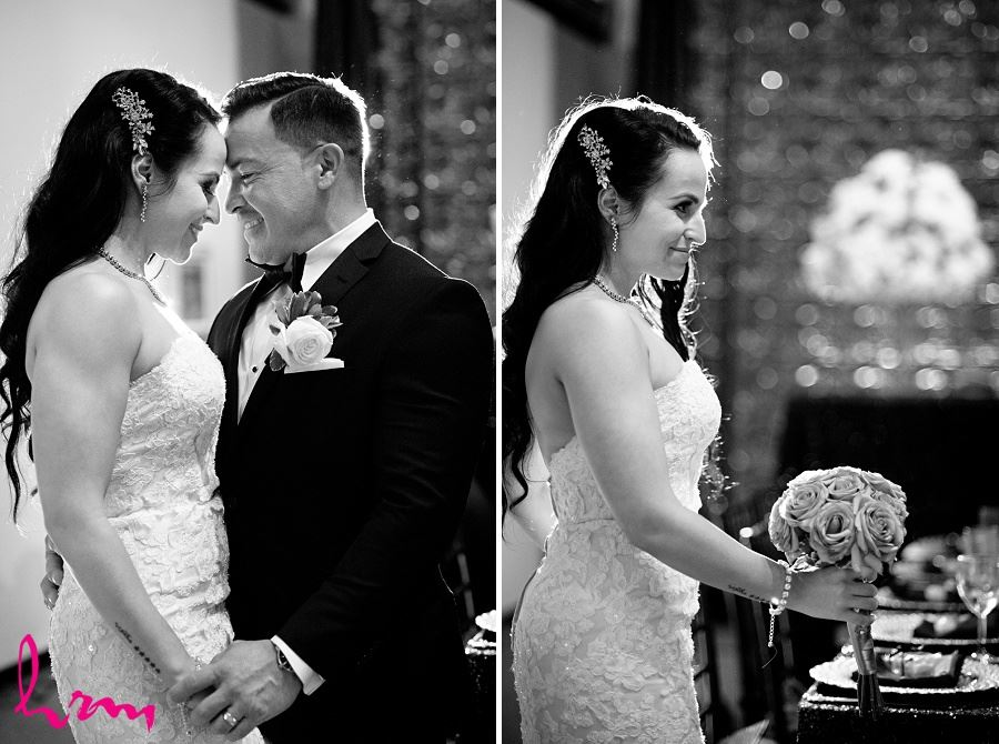 Black and white photos of Lauren + Jose after ceremony at Museum London London ON Wedding Photography