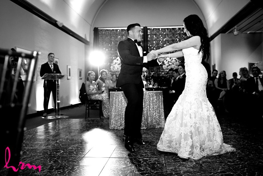 Lauren + Jose sharing the first dance at Museum London London ON Wedding Photography