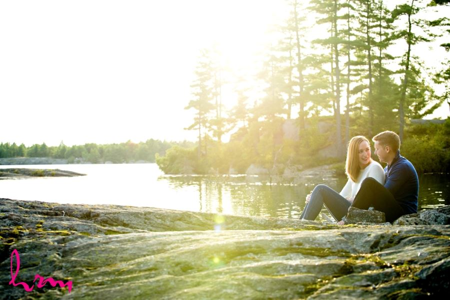 Beautiful natural outdoor engagement session