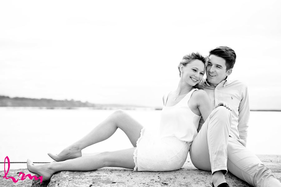 Sabrina and Winston engagement photographs taken in Port Stanley Ontario, April 2015