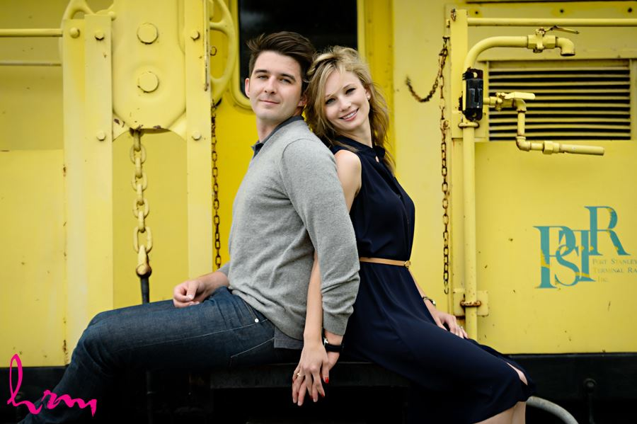 Sabrina and Winston's engagement photographs taken in Port Stanley Ontario, April 2015