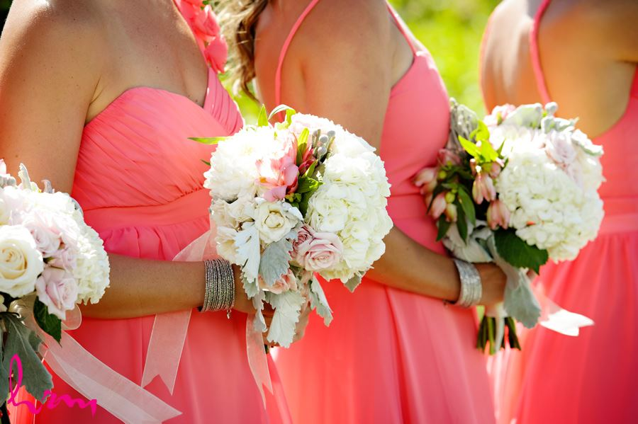 Bridesmaids flowers by  Burke Flowers London ON Wedding HRM Photography