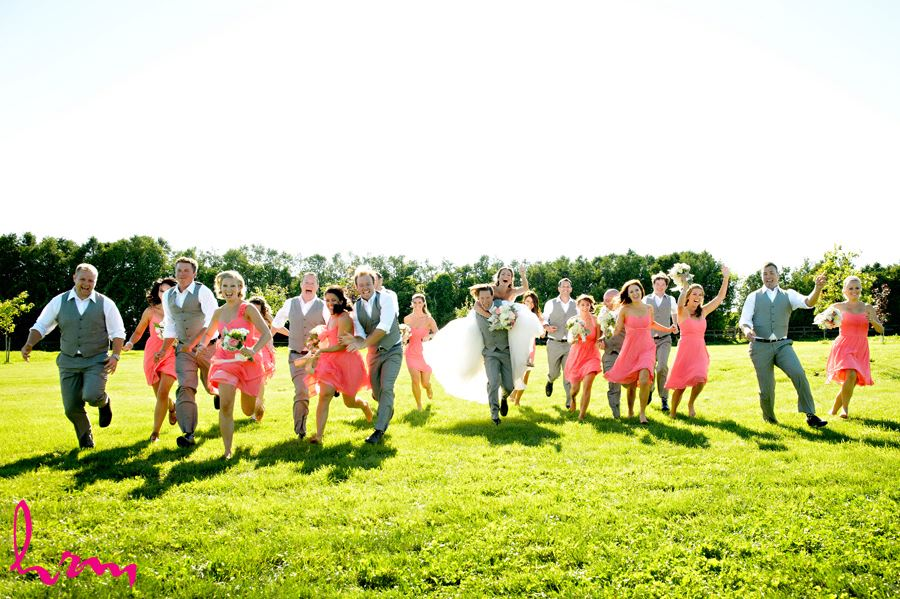 Bridal party race at Purple Hill Country Farms London ON Wedding Photography