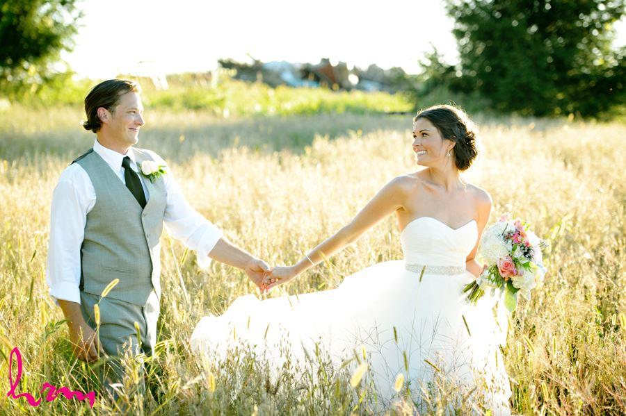 Leigh and Pete in field Purple Hill Country Farms London ON Wedding HRM Photography