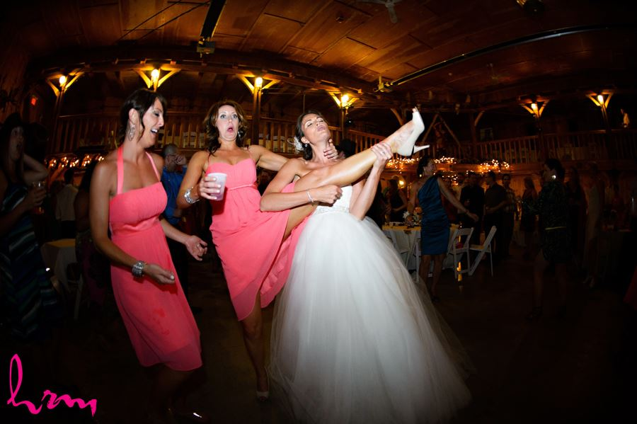 Leigh plays air guitar Purple Hill Country Farms London ON Wedding Photography