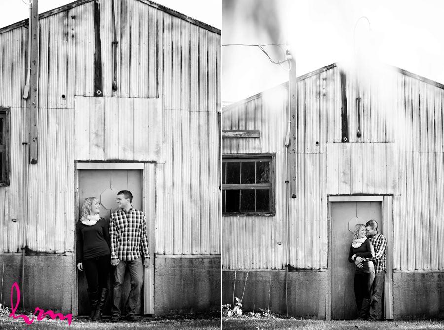 rodney ontario farm barn engagement session