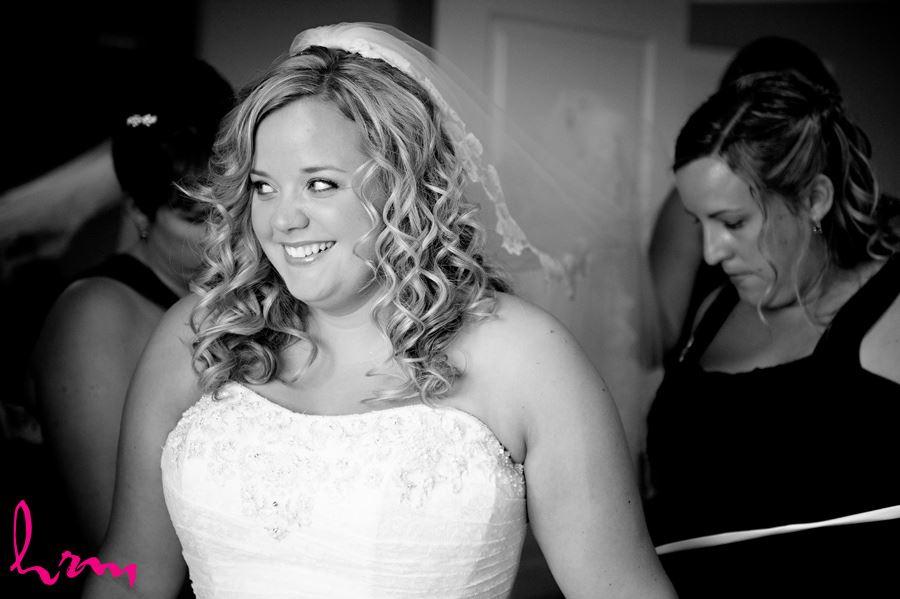Black and white photo of Mallory before wedding St. Thomas ON Wedding Photography