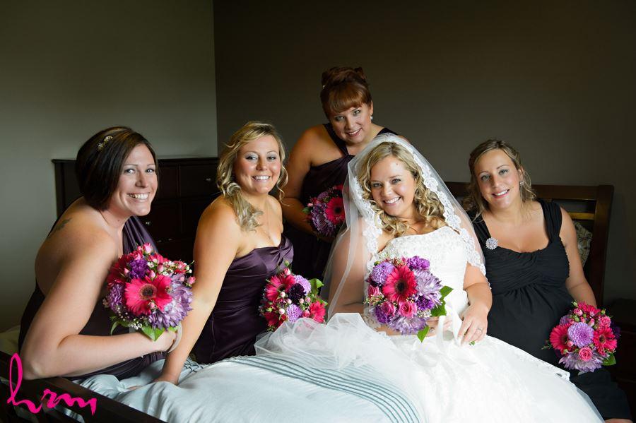 Mallory and bridesmaids at before wedding St. Thomas ON Wedding Photography