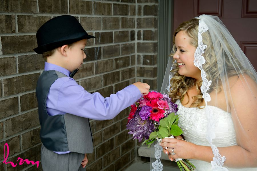 Mallory and ring-bearers before wedding St. Thomas ON Wedding Photography