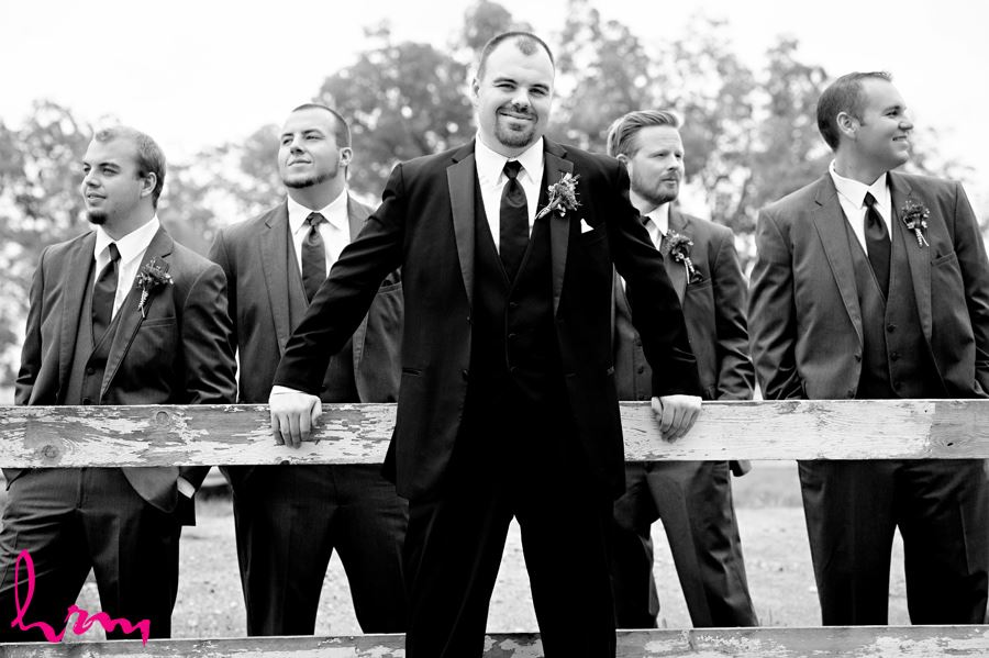 Black and white photo of Will and groomsmen before wedding St. Thomas ON Wedding HRM Photography