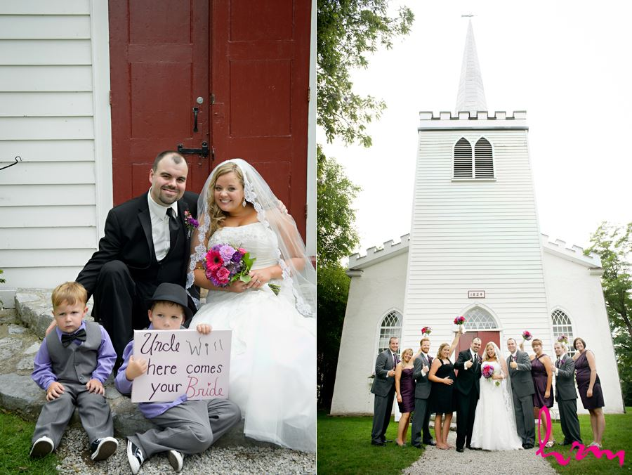 Bridal party outside The Old St. Thomas Church St. Thomas ON Wedding HRM Photography