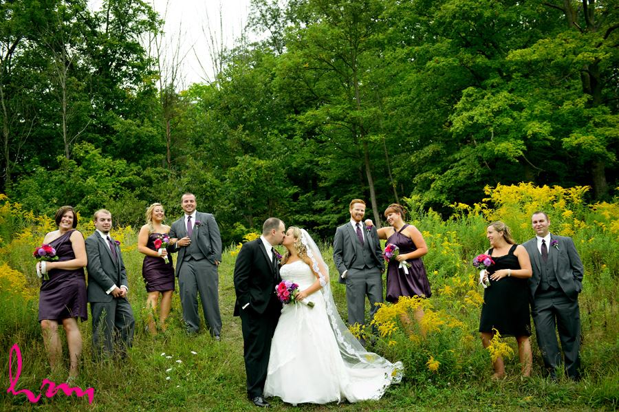 Bridal party in field St. Thomas ON Wedding Photography