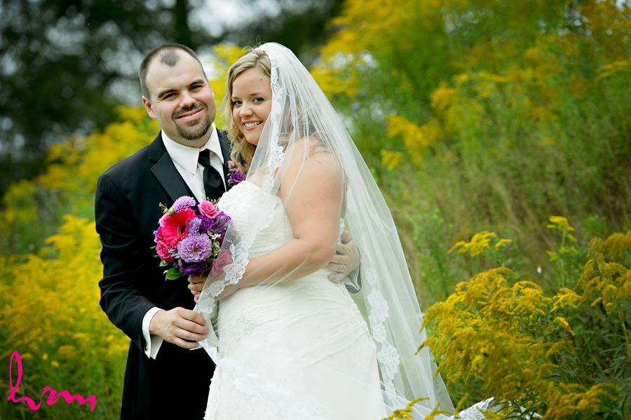 Mallory and Will in field St. Thomas ON Wedding Photography