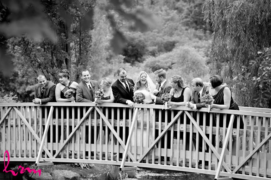 Mallory and Will wedding party on bridge St. Thomas ON Wedding Photography