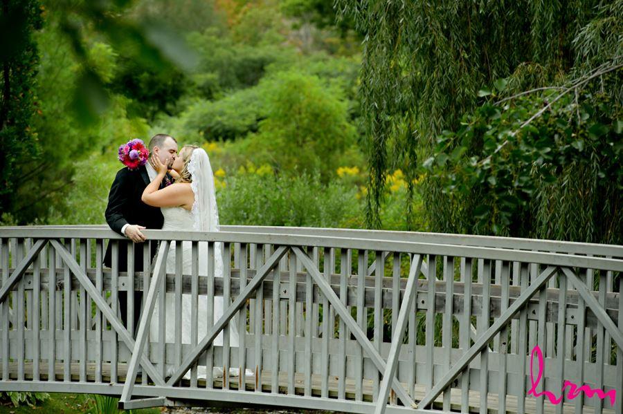 Mallory and Will on bridge St. Thomas ON Wedding Photography