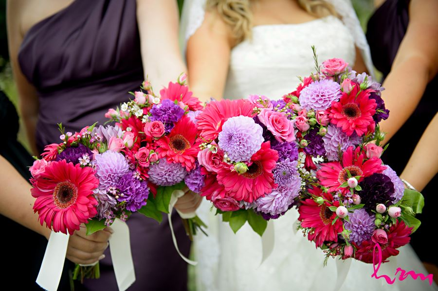 Bridesmaids flowers CASO Railway Station St. Thomas ON Wedding HRM Photography