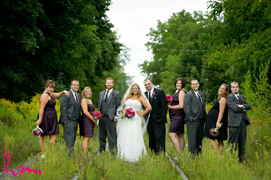 Bridal party outside The Old St. Thomas Church St. Thomas ON Wedding Photography